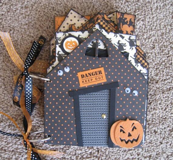Halloween Chipboard Mini Album, Haunted House