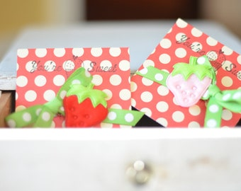 Strawberry Red Hair Clip