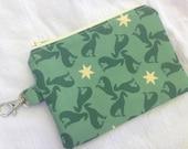 Green Greyhound Small Zippered Pouch