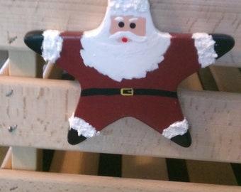 Ceramic Santa Star Ornament