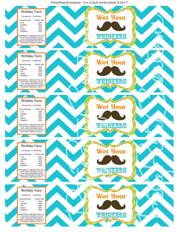 Chevron Mustache Clip Art Chevron mustache bash water labels you by ...