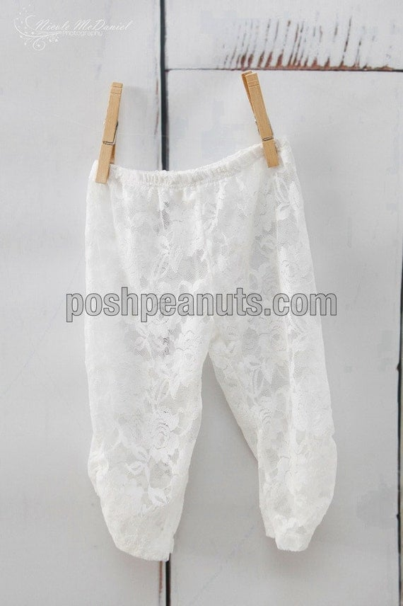White Lace Baby Leggings Baby Tights By Poshpeanutkids On Etsy