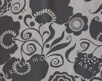 Half Yard Olympia Marchesa in Grey and Black by Alexander Henry, 100% Cotton Fabric