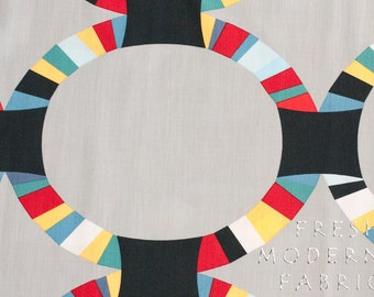 Half Yard Oval Ring in Pacific, Kona Modern Quilts, by Cynthia Frenette for Robert Kaufman, 100% Cotton Fabric