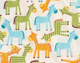 Half Yard Ponies in Bermuda, Urban Zoologie, Ann Kelle for Robert Kaufman, 100% Cotton Fabric