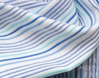 Half Yard Azure Dobby Stripe Cotton, Robert Kaufman, 100% Cotton Fabric