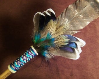 Smudge Fan- Shimmering Love - Sacred Prayer Fan- Made to Order
