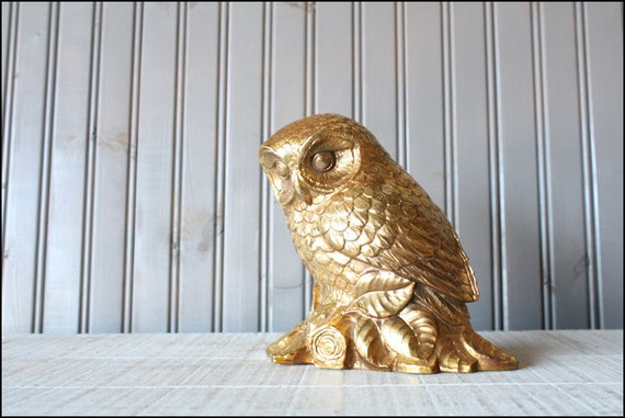 Syroco Wood Owl // Golden Bird