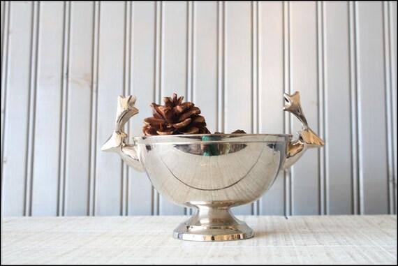 Silver Deer Bowl // Holiday Decor