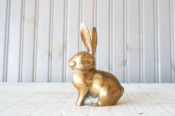 Brass Bunny Rabbit // Solid Brass