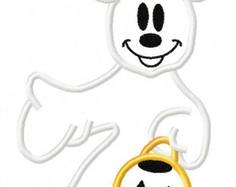 Mickey Ghost Pumpkin Perfect for Mickey's Not So Scary Halloween Party at Disney World or Disneyland Tee Sizes 2 4 6 8 10