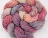 Alpaca / Rayon (Viscose) Roving (70/30) - SYRAH - Hand Painted Spinning Fiber - 4 oz