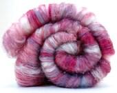 Merino, Silk, Cashmere, and more Spinning Batt  - HEART BREAKER- Limited Edition - 2 oz