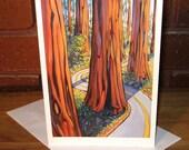 Redwood Road - Greeting Card - 5.5 x 8.5