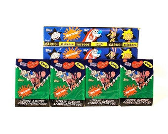 4 Nicktoons Activity Card and Sticker Packs by Topps