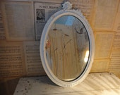 Lg Antique Very Shabby Chippy Ghostly Scratchy Mirror