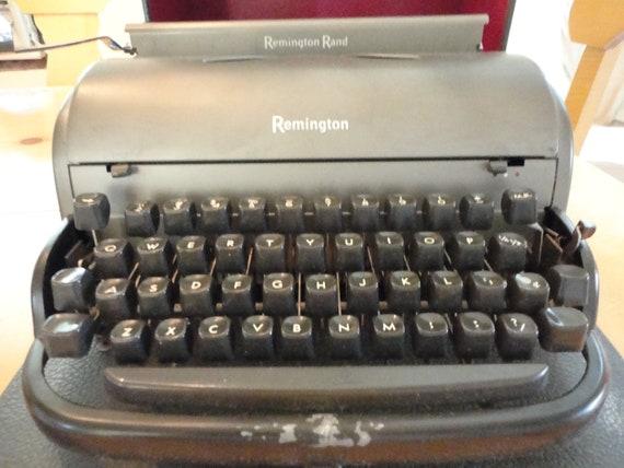 Vintage Remington Rand Typewriter with Case