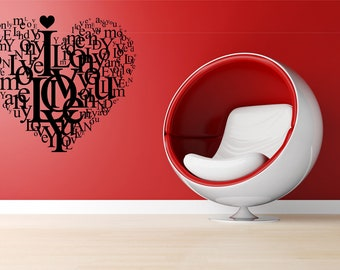 Wall Decal - Love quote  - Vinyl Wall Art Quote