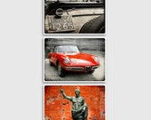 Italy Photography collection - Fine Art Photography,Italy photography,Italy print,red home decor,vespa,large wall art,red photo,alfa romeo