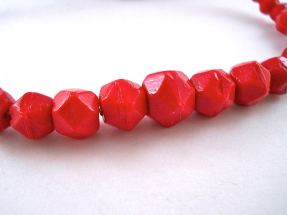 Beautiful Chinese Red Beads that sparkle
