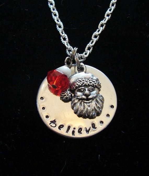 Santa claus believe necklace