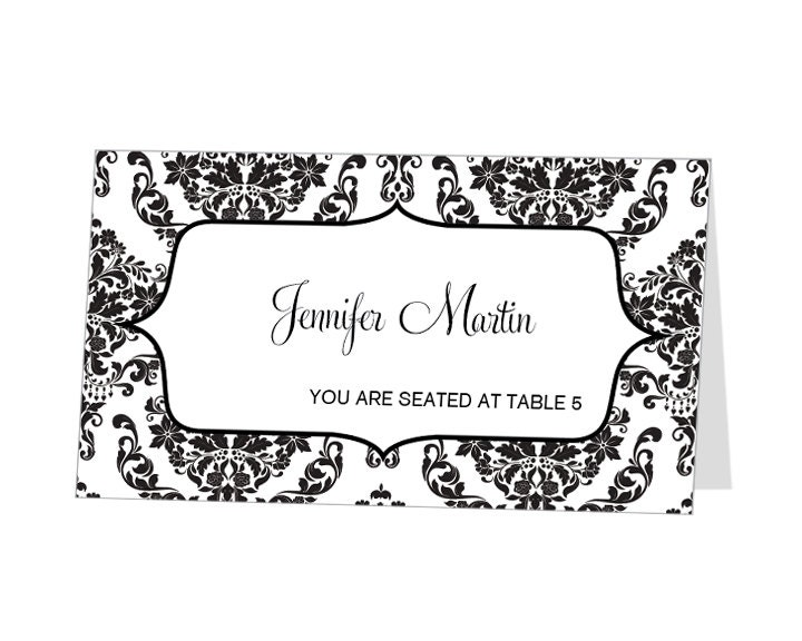 Custom Card Template » Tent Place Card Template 6 Per Sheet - Free
