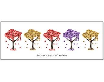 Buffalo Art Prints - Autumn Buffalo Trees