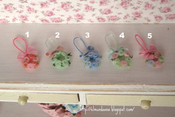 "Hanging Ornament ""roses"" for doll houses"