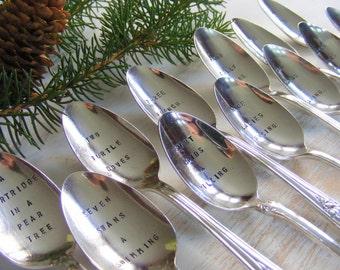 The Twelve Days of Christmas Spoon Set