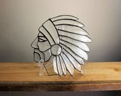 Native American Bevel Stained Glass Suncatcher