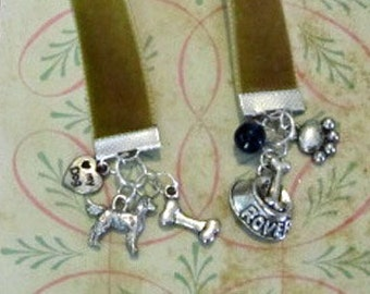 Ribbon Bookmark Gifts For Dog Lovers | Gifts For Readers | Book Club Gifts | Book Marks | Velvet Bookmarkers