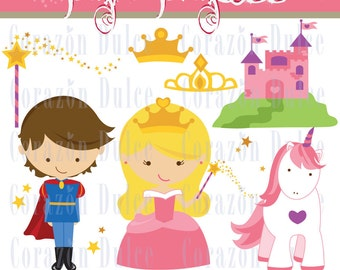 INSTANT DOWNLOAD Pink Princess -Personal and Commercial Use Clip Art-