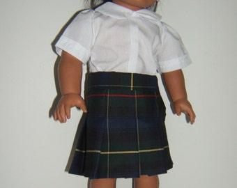 Pleated Plaid 55 School Uniform Skirt