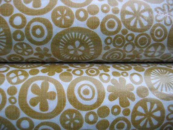 Modernist Vinyl Shelf Liners.  2 Rolls.  Vintage 70's.  Mod, Pop, Panton era. Mid century Kitsch. Too Damn Groovy. Gold