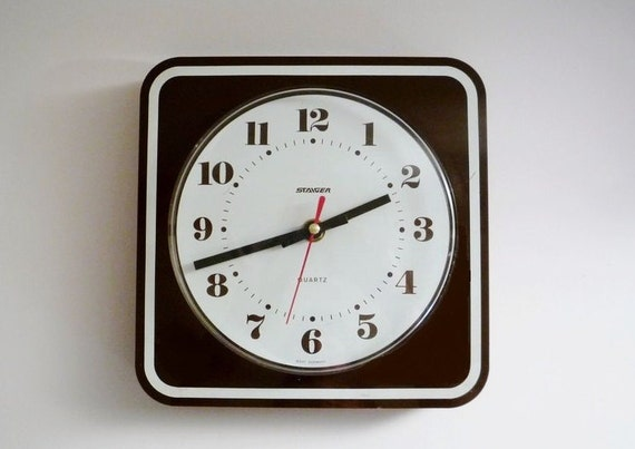 Vintage Wall Clock from Staiger Made in Germany