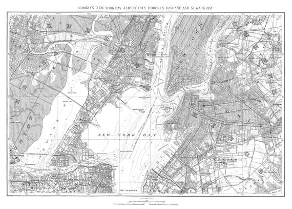 stadtplan von new york city karte 1893 von newark new york. Black Bedroom Furniture Sets. Home Design Ideas