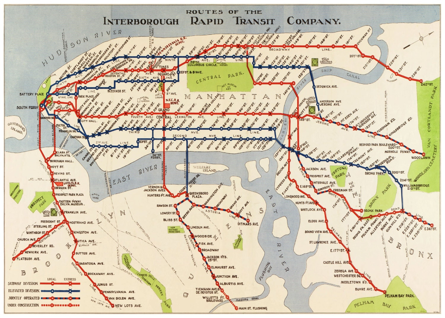 Vintage Nyc Subway Map