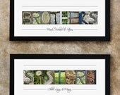 FAMILY NAME SIGN - Gift for Sister and Brother, Personalized Gift, Alphabet Letter Photography, Gift Idea for Family Member