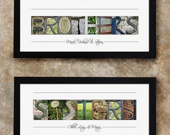 Alphabet Photo Letter Art, Gift for Sister and Brother, Personalized Gift, Alphabet Letter Photography, Gift for Grandma, Gift Ideas