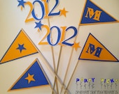 RESERVED for Tobi - Grad Party Picks - Set of 12 FULLY CUSTOMIZABLE (includes Congrats Pick)