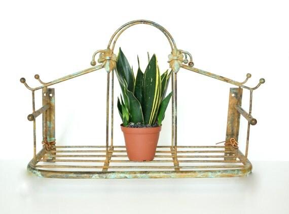 Vintage Metal Hanging Shelf / Plant Holder - Perfect for home or garden