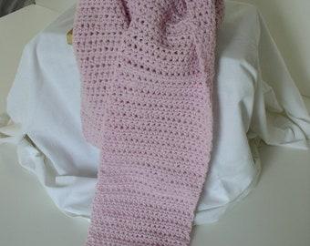 Crochet Acrylic Pink Orchard Scarf - 1708