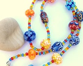 Happy Lampwork Necklace