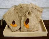 4 x 6 Inch Burlap Bags, Set of 5, Fall Wedding Decoration, County Wedding