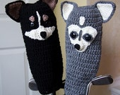 Custom Crocheted Golf Club Head Covers