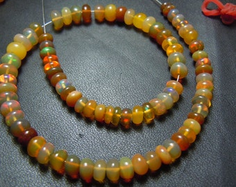 Ethiopian Opal Smooth Rondelle Beads AAA Quality 10'' Size 5 MM to 6 mm approx  Ethiopian Opal Beads