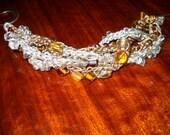 Braided knit shimmer floss bracelet