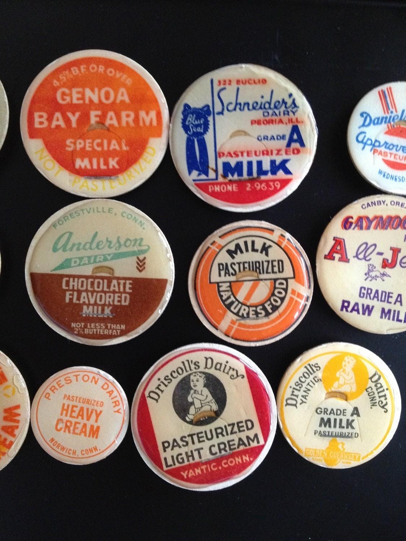 vintage milk caps