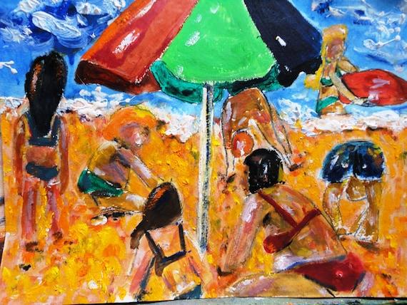 Hot Fun in the Sun  9x12 Original Painting by Marlene Kurland