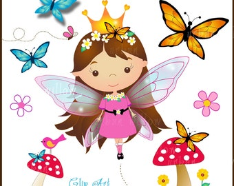 Cute fairy clipart | Etsy